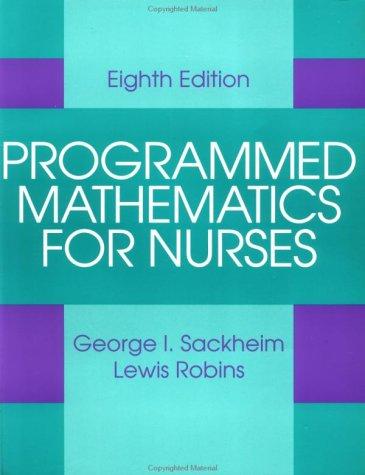 9780071053983: Programmed Mathematics for Nurses