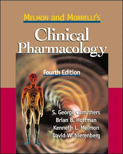 9780071054065: Melmon and Morrelli's Clinical Pharmacology