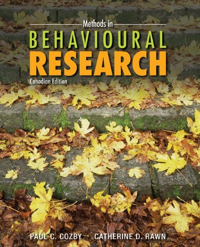 Methods in Behavioural Research: Catherine Rawn (Author)