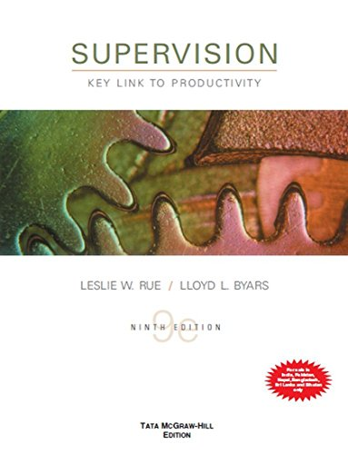 9780071067126: Supervision: Key Link To Productivity, 9th Edition