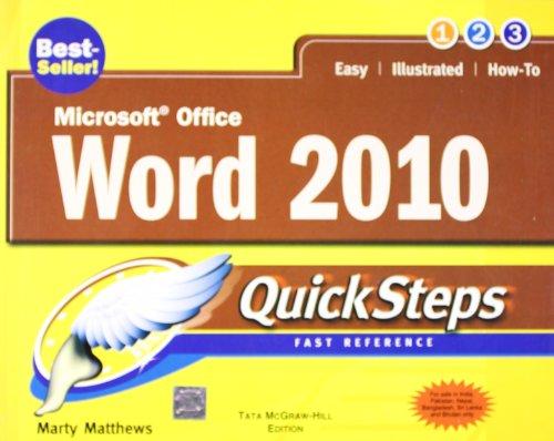 9780071067331: Microsoft Office Word 2010 Quicksteps
