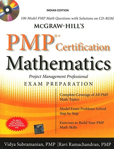 9780071068062: McGraw-Hill's PMP Certification Mathematics with CD-ROM