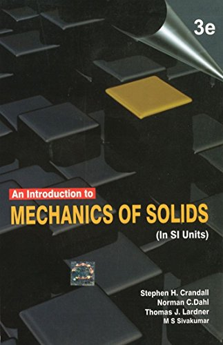 Introduction To Mechanics Of Solids, 3Rd Edn: Crandall
