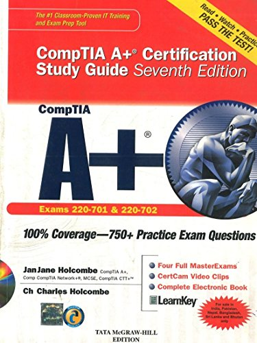 9780071070584: CompTIA A+ Certification Study Guide, Seventh Edition (Exam 220-701 & 220-702) (Certification Press)