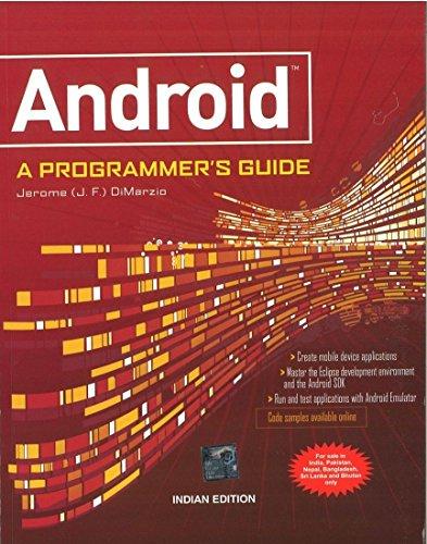 Android: A Programming Guide: J.F. DiMarzio