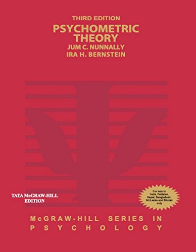 9780071070881: PSYCHOMETRIC THEORY