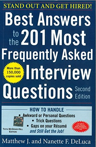 9780071070966: Best Answers to the 201 Most Frequently Asked Interview Questions, Second Edition