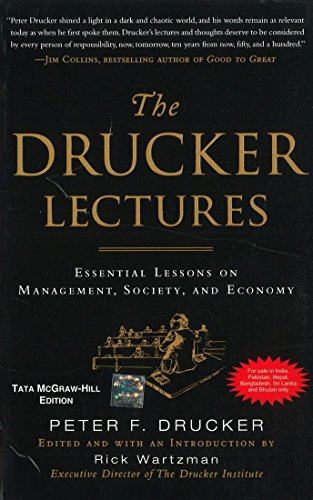 9780071071031: The Drucker Lectures: Essential Lessons on Management, Society and Economy