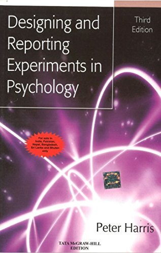 9780071074285: Designing And Reporting Experiments In Psychology 3rd Ed