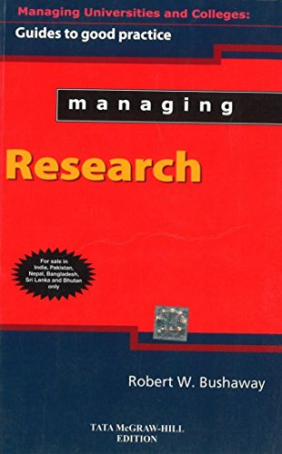 9780071077484: Managing Research: Guide To Good Practice