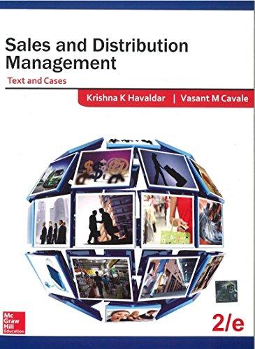 Sales & Distribution Management 2/Ed: Havaldar