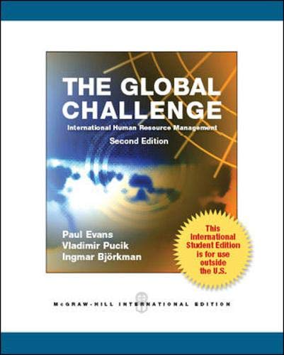 9780071078948: The Global Challenge: International Human Resource Management