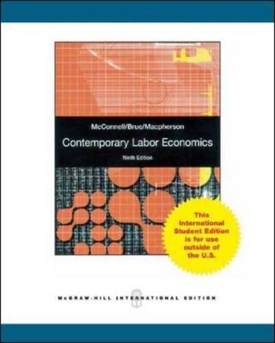 9780071078955: Contemporary Labor Economics