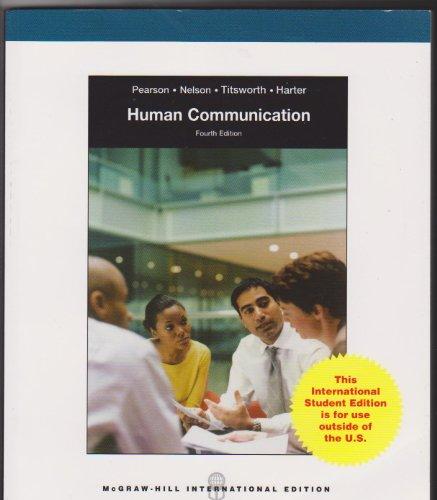 9780071080682: Human Communication