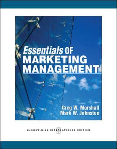 9780071082020: Essentials of Marketing Management