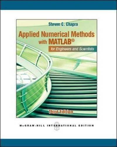 9780071086189: Applied Numerical Methods With Matlab For Engineers And Scientists