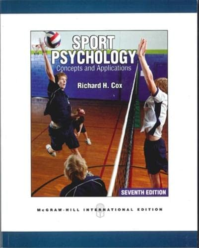 9780071086226: Sport Psychology: Concepts and Applications (Int'l Ed)
