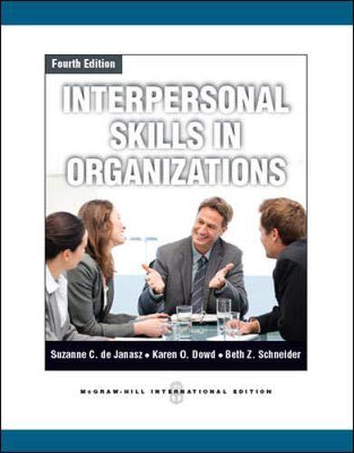 9780071086301: Interpersonal Skills in Organizations
