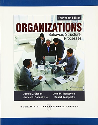 9780071086417: Organizations: Behavior, Structure, Processes