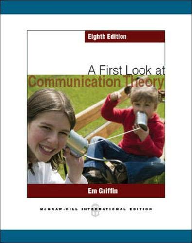 9780071086424: A First Look at Communication Theory