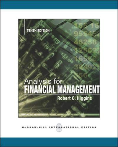 9780071086486: Analysis for Financial Management