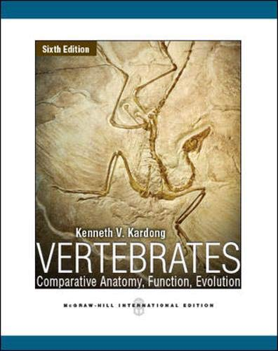 9780071086554: Vertebrates: Comparative Anatomy, Function, Evolution