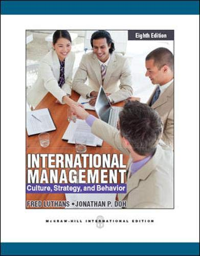 9780071086578: International Management: Culture, Strategy and Behavior