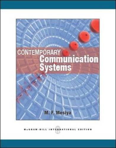 9780071086615: Contemporary Communication Systems (Int'l Ed)