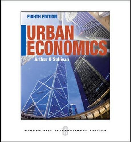 9780071086684: Urban Economics (Int'l Ed)