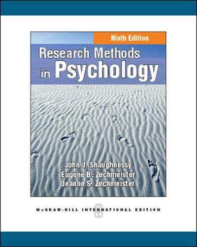 9780071086813: Research Methods in Psychology