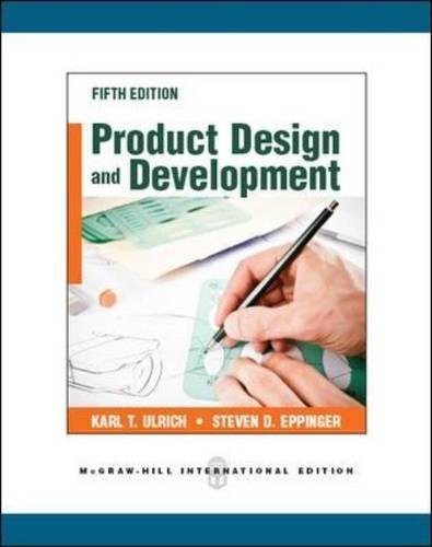 9780071086950: Product disign and development (Scienze)