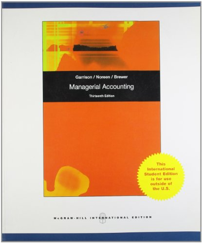 9780071087087: Managerial Accounting 13th Edition (International Edition)