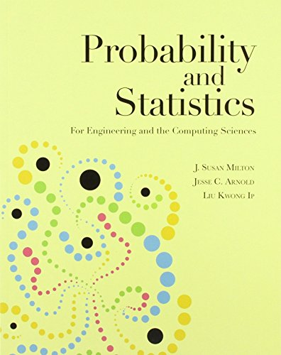 9780071087858: Probability and Statistics (Asia Adaptation): For Engineering and the Computing Sciences