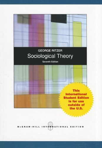 9780071088527: Sociological Theory