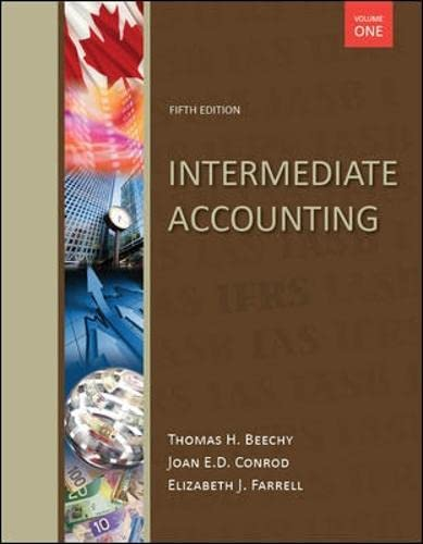 Intermediate Accounting,with Connect Access Card: Volume 1: Thomas H. Beechy,