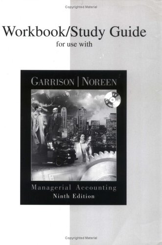9780071092463: Workbook/Study Guide for use with Managerial Accounting
