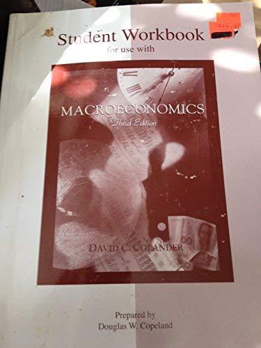9780071093002: Student Workbook to accompany Macroeconomics
