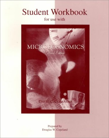 9780071093040: Student Workbook to accompany Microeconomics