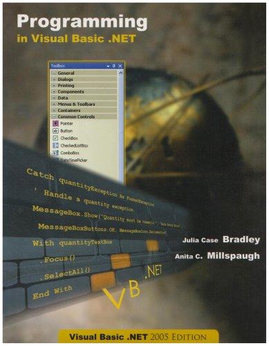 9780071100762: Programming in Visual Basic.NET 2005 2005