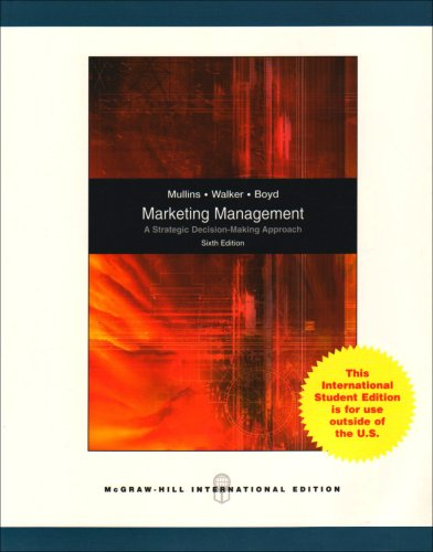 9780071101097: Marketing Management: A Strategic Decision-Making Approach