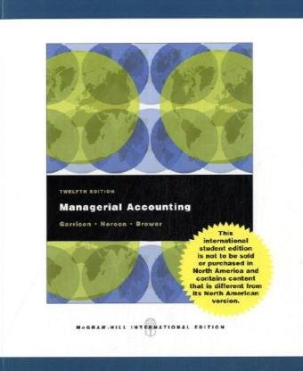 9780071101134: Managerial Accounting