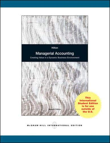 9780071101141: Managerial Accounting