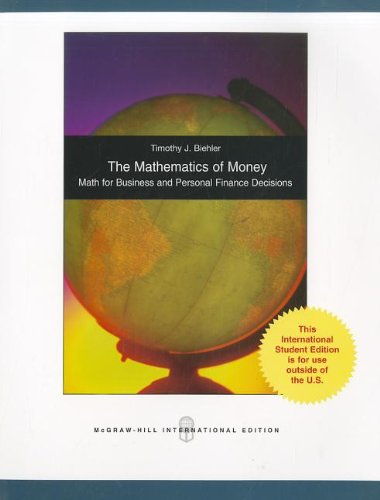 9780071101295: The Mathematics of Money
