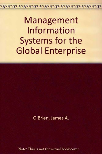 9780071101400: Management Information Systems for the Global Enterprise