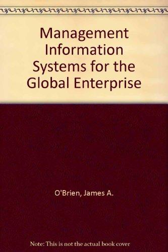 9780071101400: Management Information Systems for the Global Enterprise