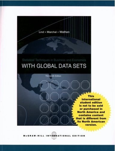 9780071101516: Statistical Techniques in Business & Economics with Global Data Sets, w. CD-ROM