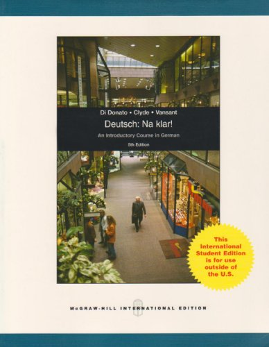 9780071101578: Deutsch, Na Klar!: An Introductory German Course