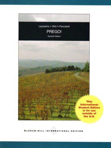 9780071101585: Prego!: An Invitation to Italian