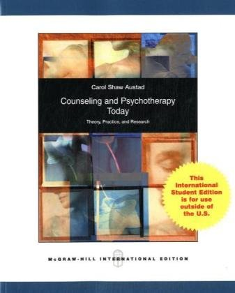 9780071101639: Psychotherapy and Counseling Today: Theory, Practice, and Research