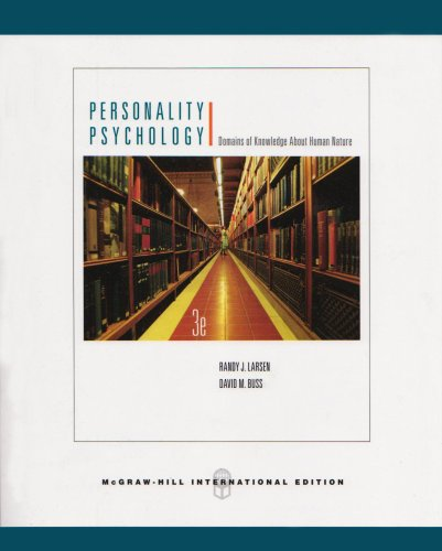 9780071101684: Personality Psychology: Domains of Knowledge About Human Nature
